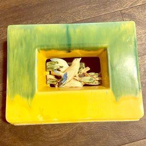 1951 McCoy Arcature Green/Yellow Planter